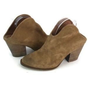 Chinese Laundry Womens Brown Open Back Ankle Boots